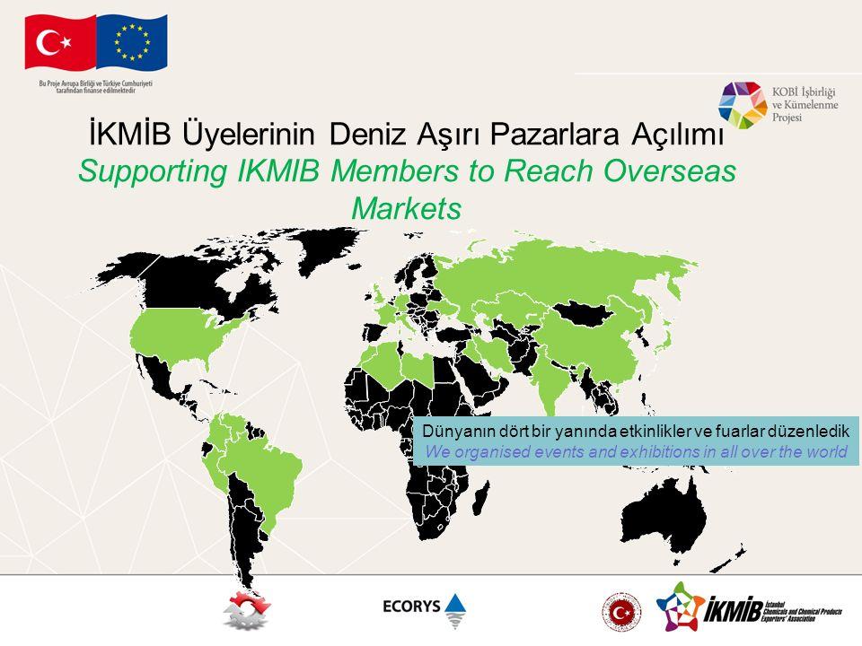 İKMİB Üyelerinin Deniz Aşırı Pazarlara Açılımı Supporting IKMIB Members to Reach Overseas Markets Cosmoprof İtalya Fuarında Türkiye Milli Katılımı Turkish National Pavilion @ Cosmoprof Italy