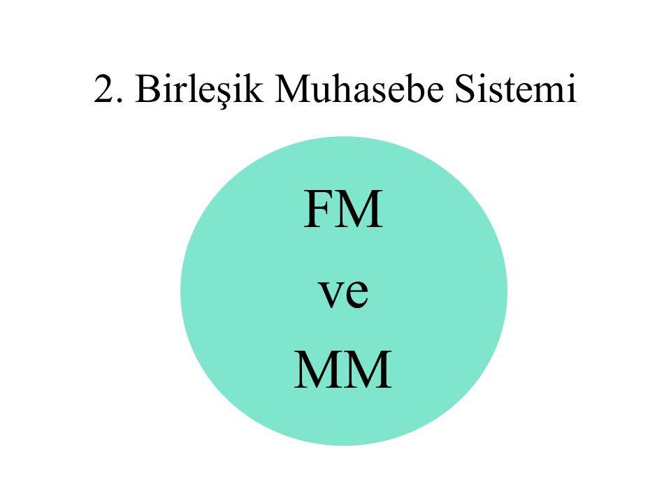 FM ve MM 2. Birleşik Muhasebe Sistemi