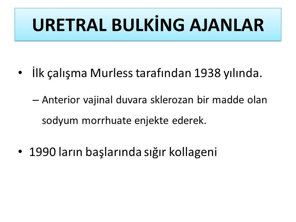 İlk çalışma Murless tarafından 1938 yılında.