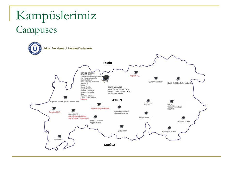 Kampüse Erişim How to get to the main campus.