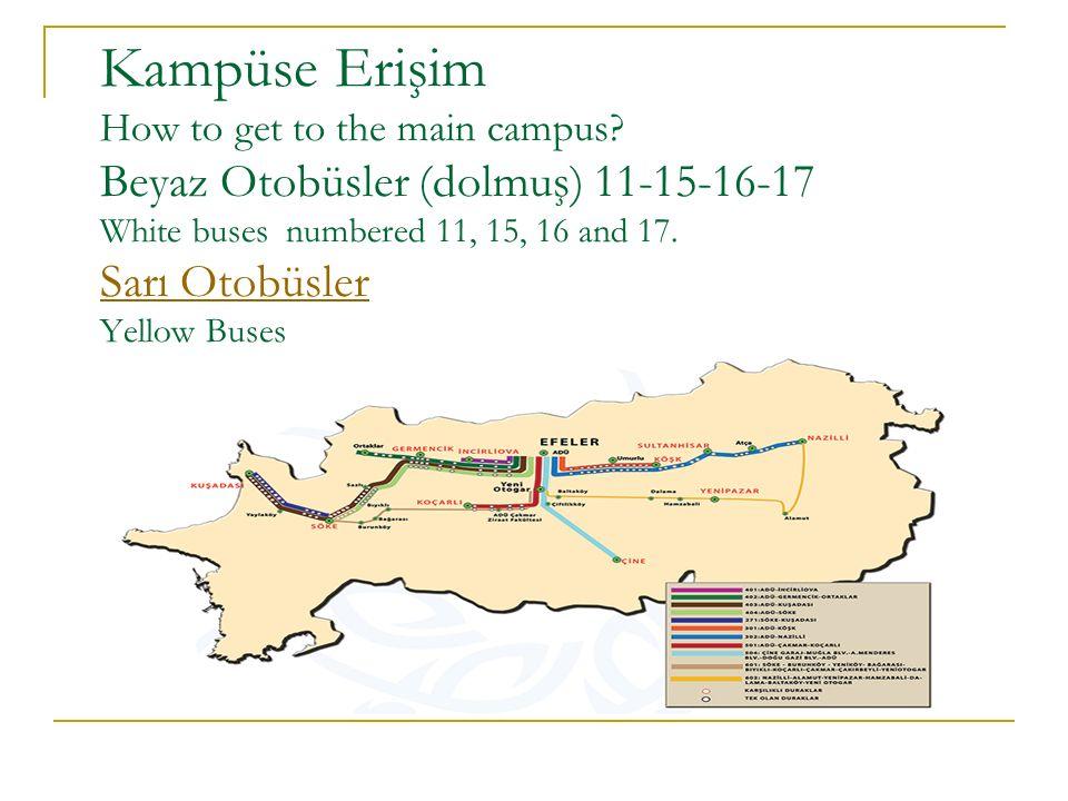 Kampüs Haritası Campus Map
