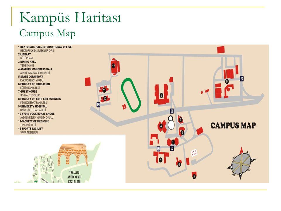 Spor Tesisleri Sport Facilities Merkez kampüste tenis kortları, futbol, basketbol, voleybol sahaları ve olimpik yüzme havuzu gibi spor tesisleri yer almaktadır.