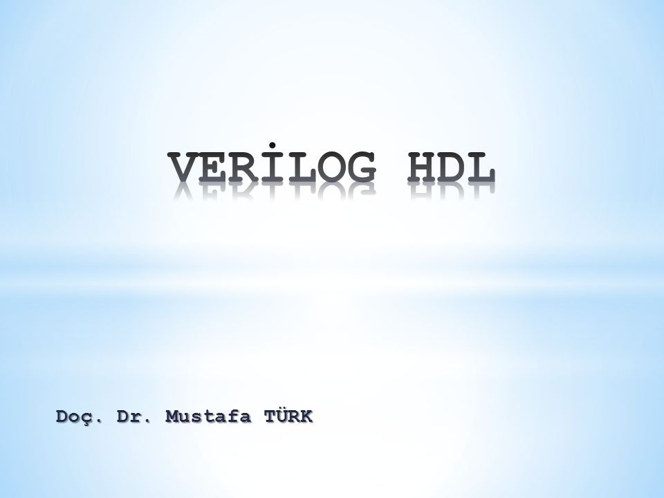 Doç. Dr. Mustafa TÜRK