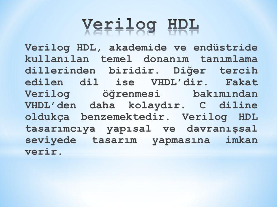 Verilog HDL, akademide ve endüstride kullanılan temel donanım tanımlama dillerinden biridir. Diğer tercih edilen dil ise VHDL'dir. Fakat Verilog öğren