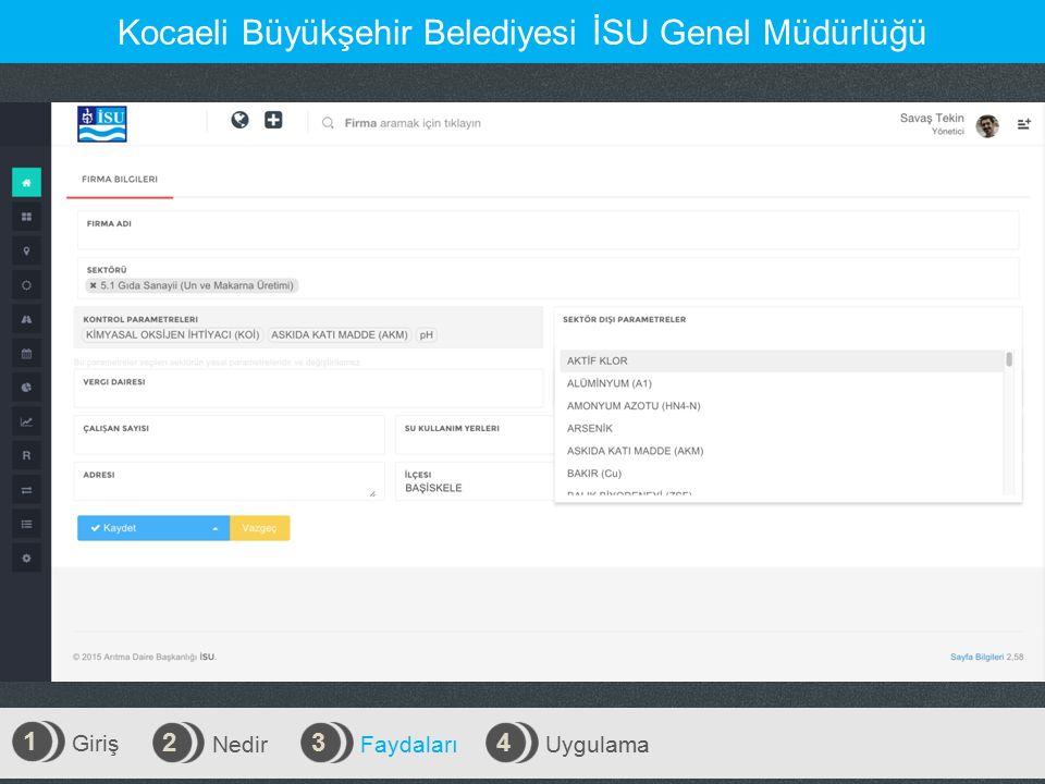 Giriş 1 Nedir 2 Faydaları 3 Uygulama 4 Kocaeli Büyükşehir Belediyesi İSU Genel Müdürlüğü