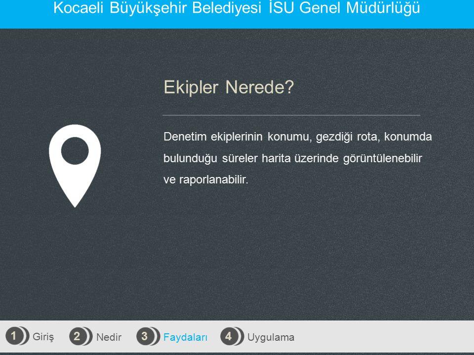 Giriş 1 Nedir 2 Faydaları 3 Uygulama 4 Kocaeli Büyükşehir Belediyesi İSU Genel Müdürlüğü Ekipler Nerede.