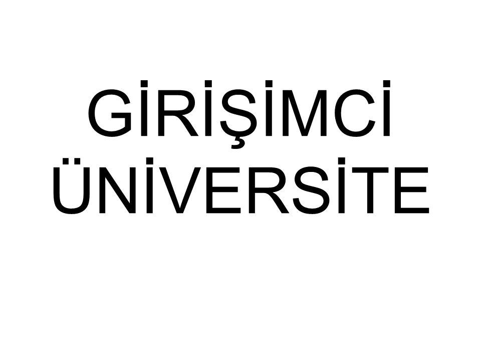 GİRİŞİMCİ ÜNİVERSİTE