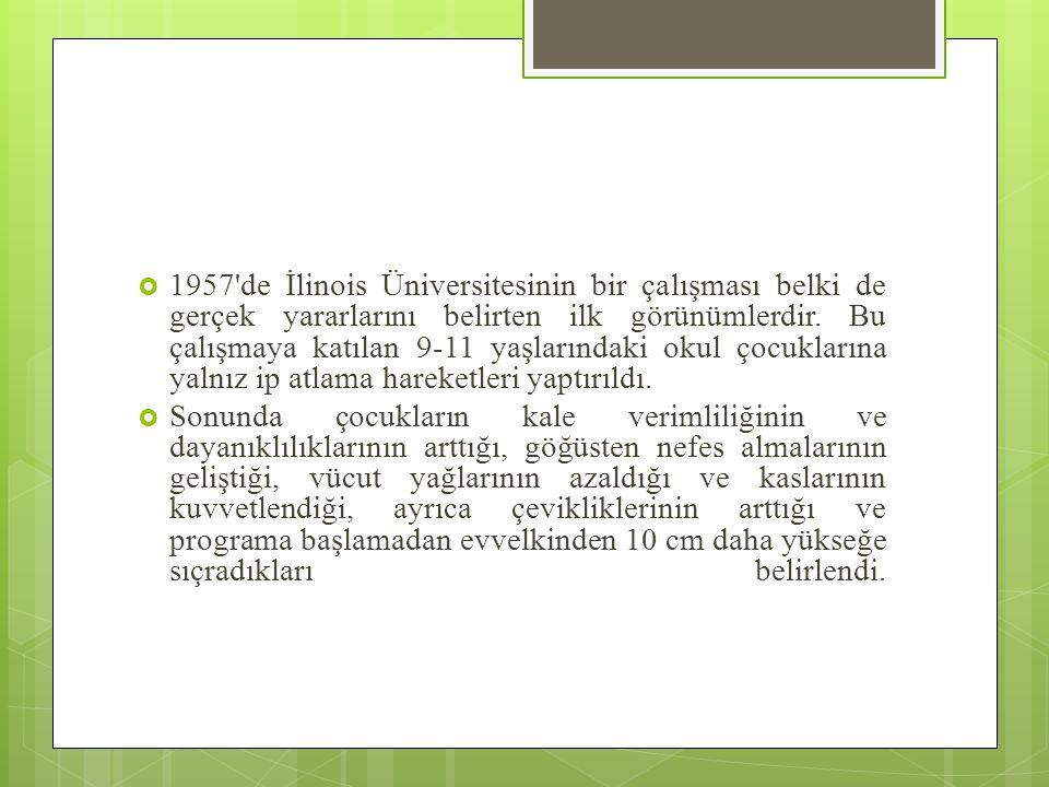  1957 de İlinois Üniversitesinin bir çalışması belki de gerçek yararlarını belirten ilk görünümlerdir.