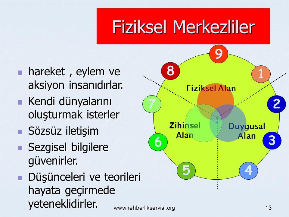 www.rehberlikservisi.org 12 Zihinsel Alan 5- İlgilerinin Odağı: Bilginin elde edilmesine.
