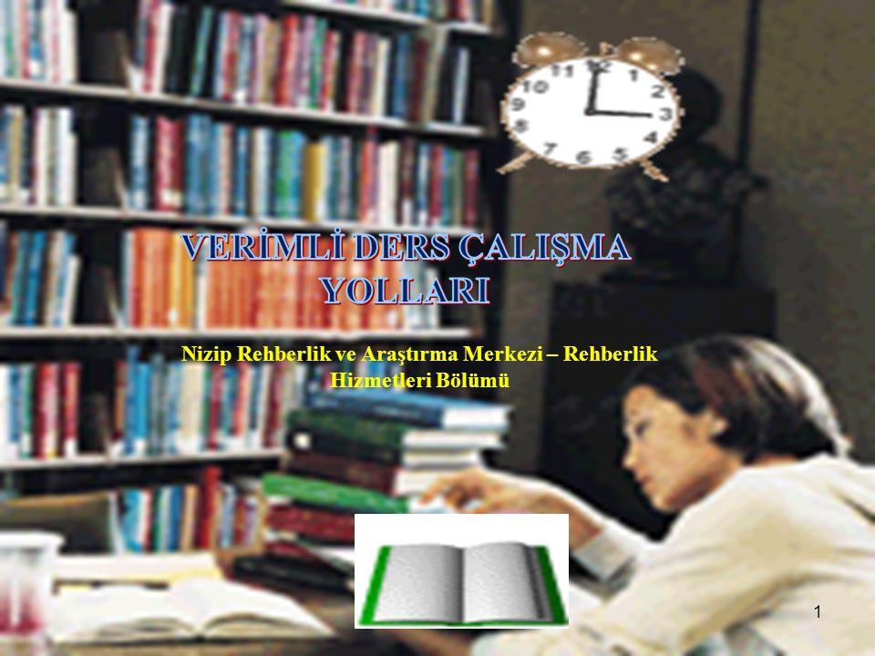 Nizip Rehberlik ve Araştırma Merkezi – Rehberlik Hizmetleri Bölümü 1