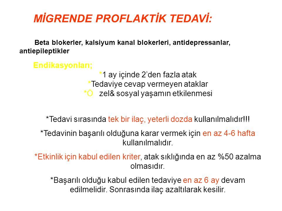 *Tedavi sırasında tek bir ilaç, yeterli dozda kullanılmalıdır!!.