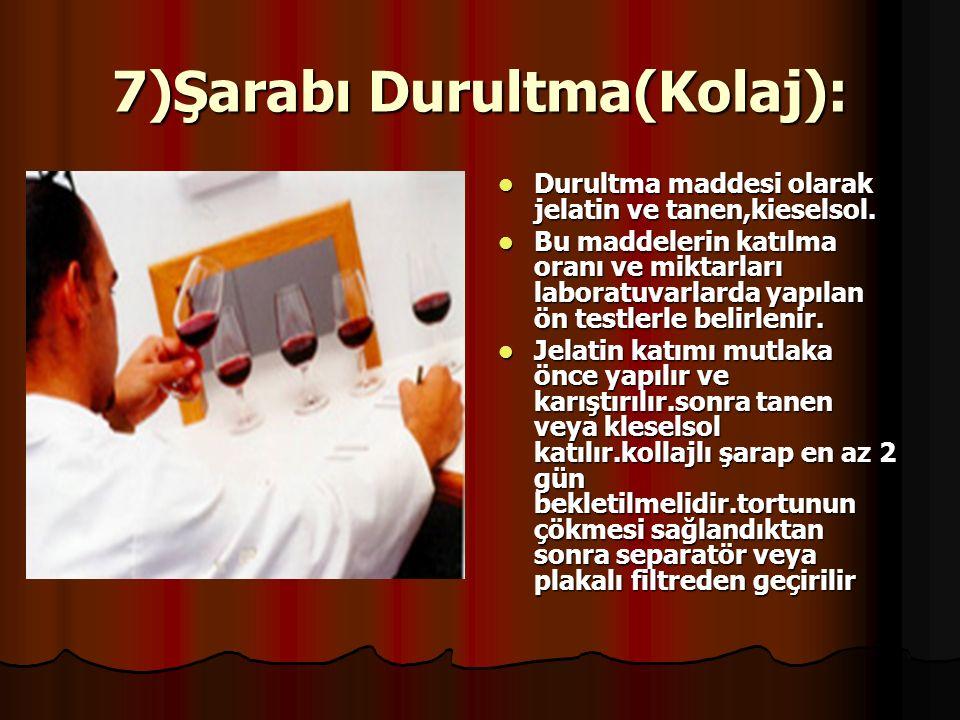 6)Fermantasyon Sonrası Aktarma :Fermantasyonu biten şarap 1 gün daha bekletilir.