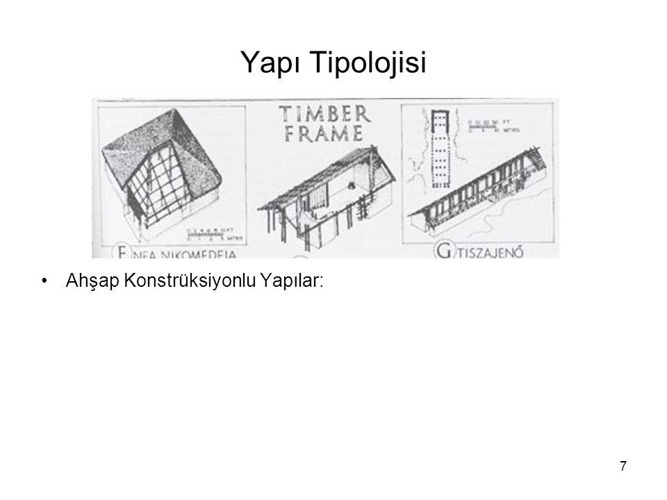 8 Örnek Yapılar: -Kare Planlı Yapılar: Nea Nikomedeia Kuzey Yunanistan/Makedonya, -Dikdörtgen Planlı Yapılar: Azmak ve Karanova/Bulgaristan -Lineer Planlı Yapılar: Bylany/Çek Cumhuriyeti, Hollanda, Ukrayna