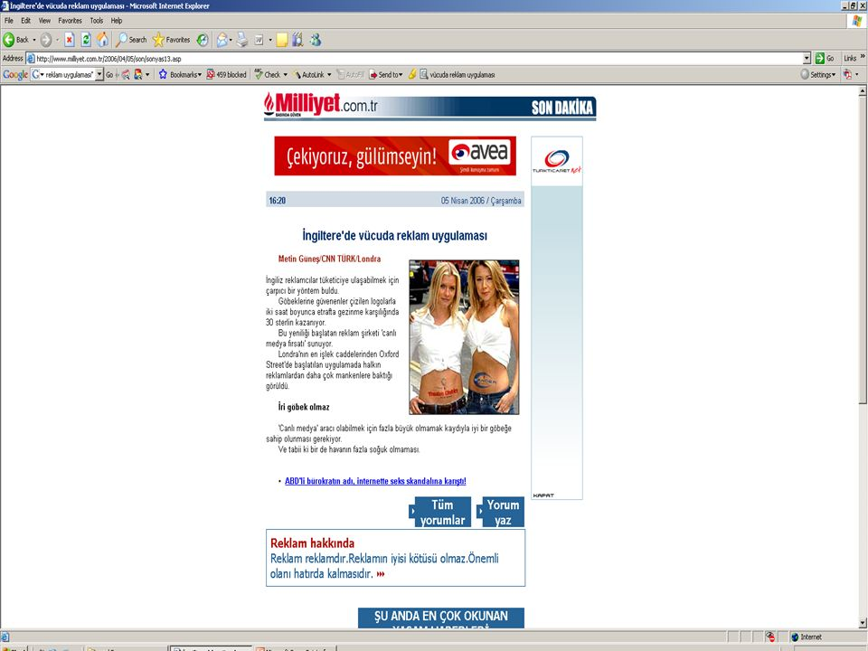 Reklâm BBY 401, 1 Kasım 2007