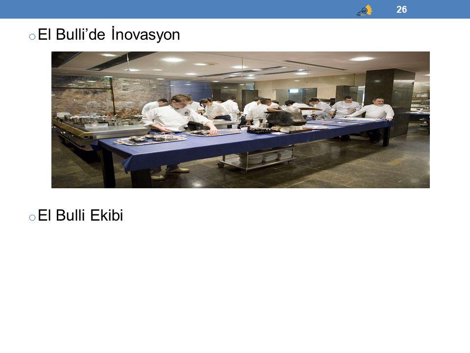 o El Bulli'de İnovasyon o El Bulli Ekibi 26