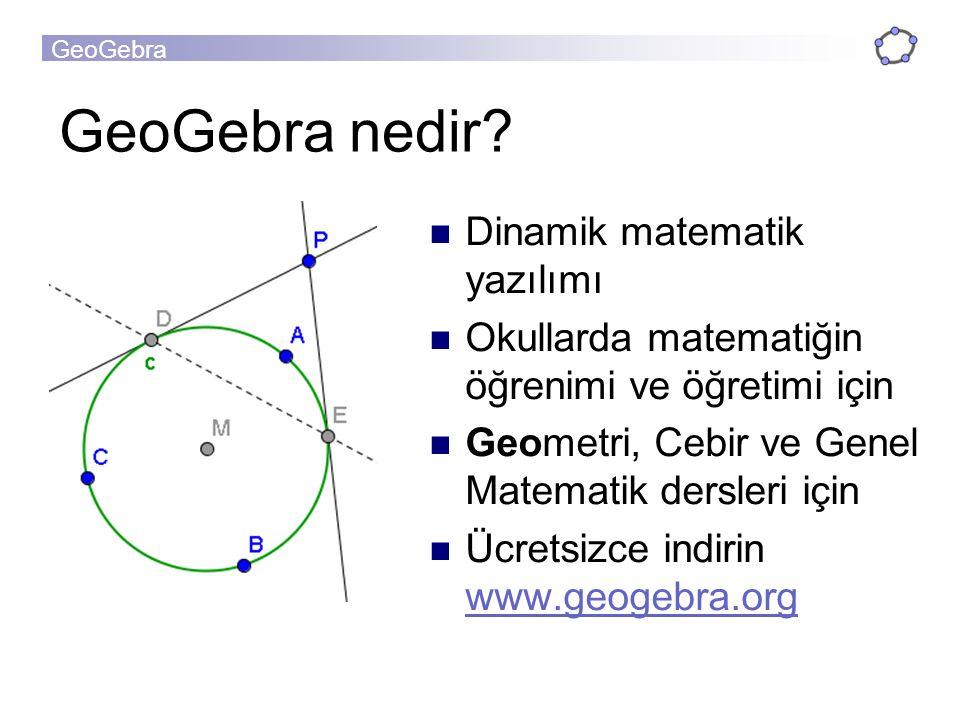 GeoGebra GeoGebra =GeometriGebir+ Geometry & Graphics Window Algebra Window