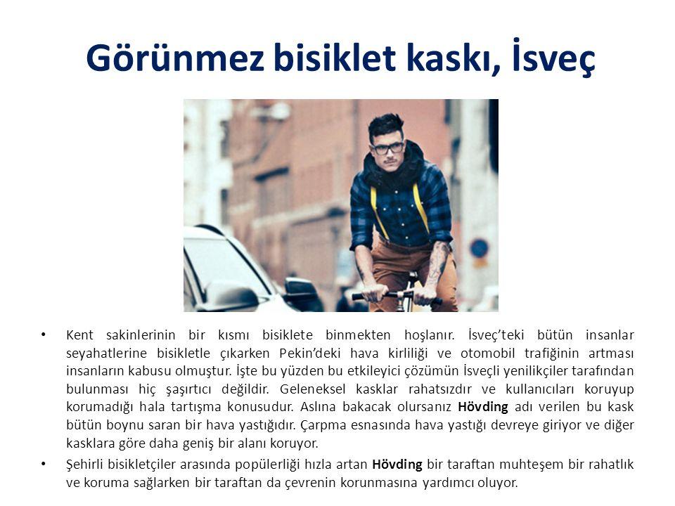 Görünmez bisiklet kaskı, İsveç Kent sakinlerinin bir kısmı bisiklete binmekten hoşlanır.