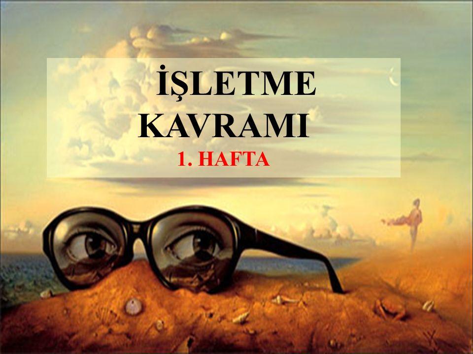 İŞLETME EKONOMİSİ İLE İLGİLİ TEMEL KAVRAMLAR 1.