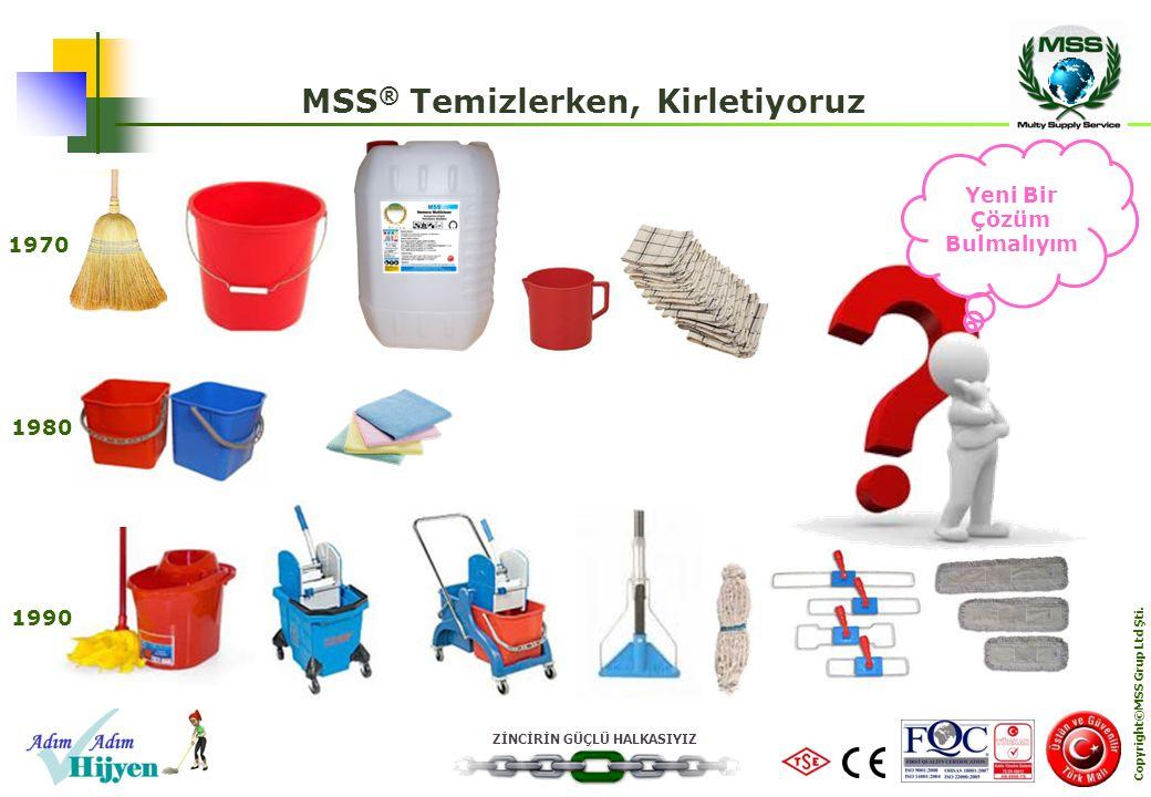ZİNCİRİN GÜÇLÜ HALKASIYIZ Copyright©MSS Grup Ltd Şti. MSS ® Temizlerken, Kirletiyoruz Yeni Bir Çözüm Bulmalıyım 1970 1980 1990
