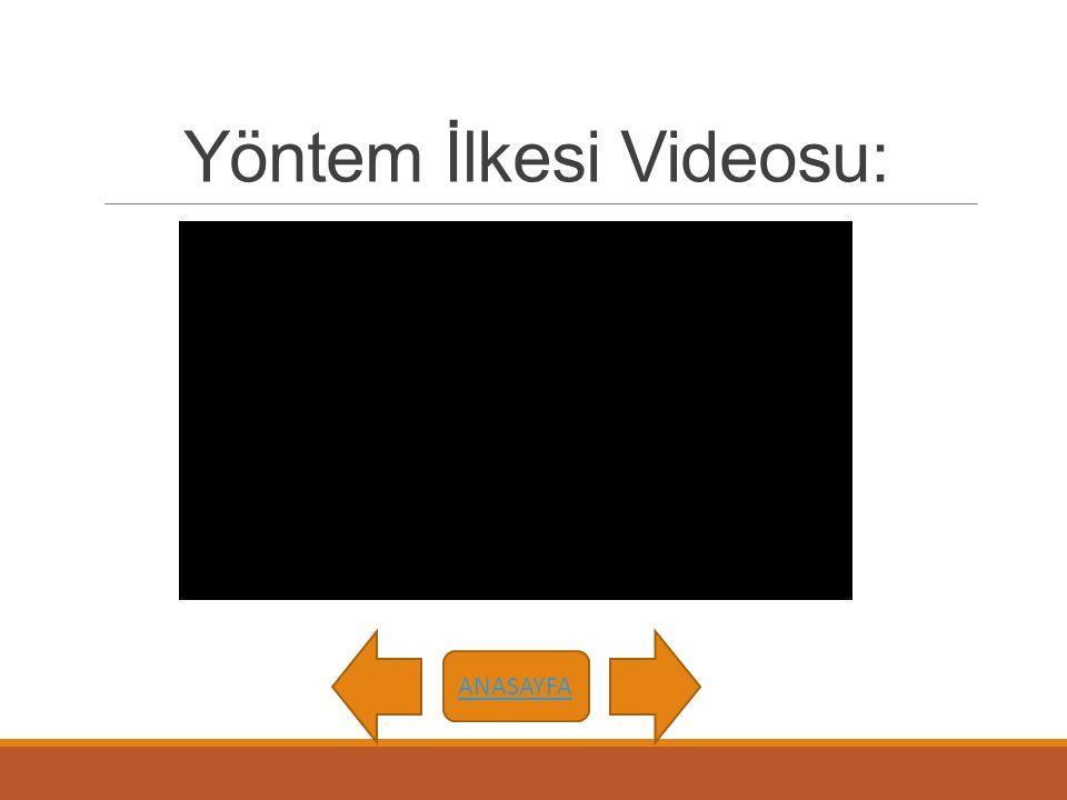 Yöntem İlkesi Videosu: ANASAYFA