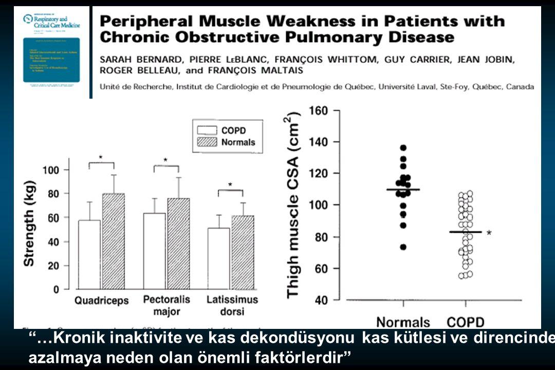 …Kronik inaktivite ve kas dekondüsyonu kas kütlesi ve direncinde azalmaya neden olan önemli faktörlerdir 1998:158