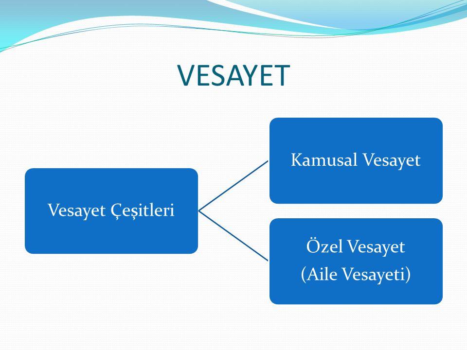 VESAYET KAMUSAL VESAYET Vesayet işlevi bakımından bir kamı kurumudur.