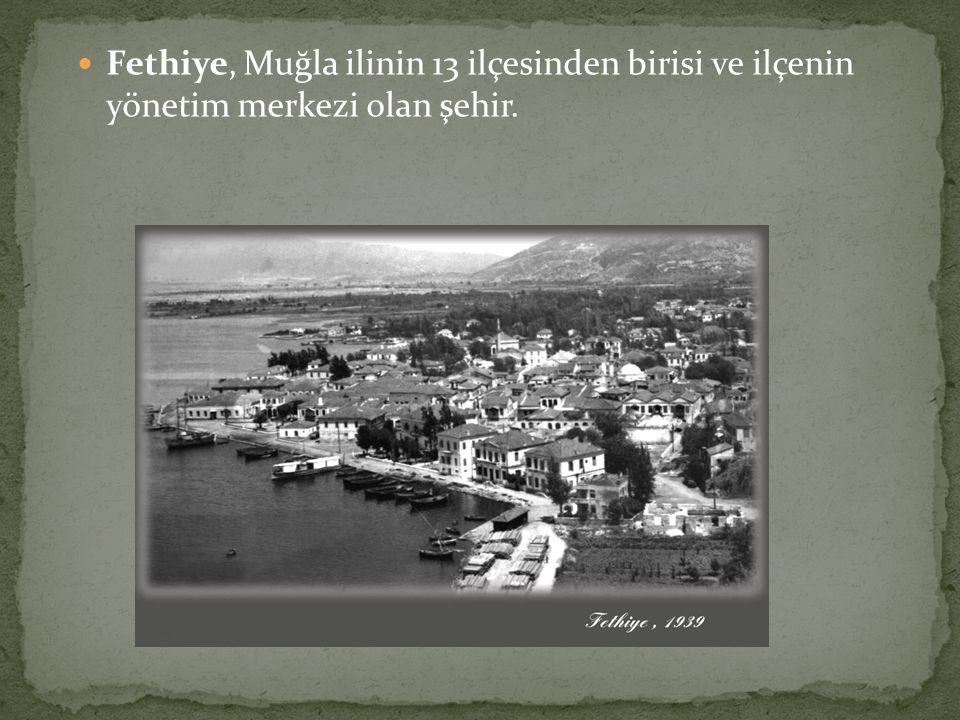 Fethiye, Muğla ilinin 13 ilçesinden birisi ve ilçenin yönetim merkezi olan şehir.
