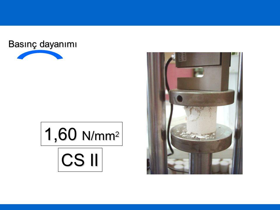 1,60 N/mm 2 Basınç dayanımı CS II