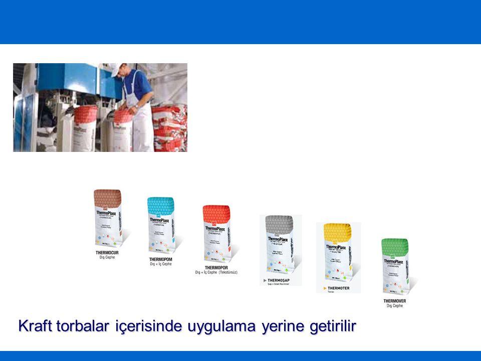 Her türlü sıva malzemesi ile işlenebilir
