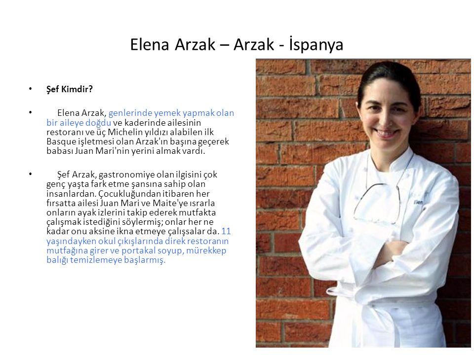 Elena Arzak – Arzak - İspanya Şef Kimdir? Elena Arzak, genlerinde yemek yapmak olan bir aileye doğdu ve kaderinde ailesinin restoranı ve üç Michelin y