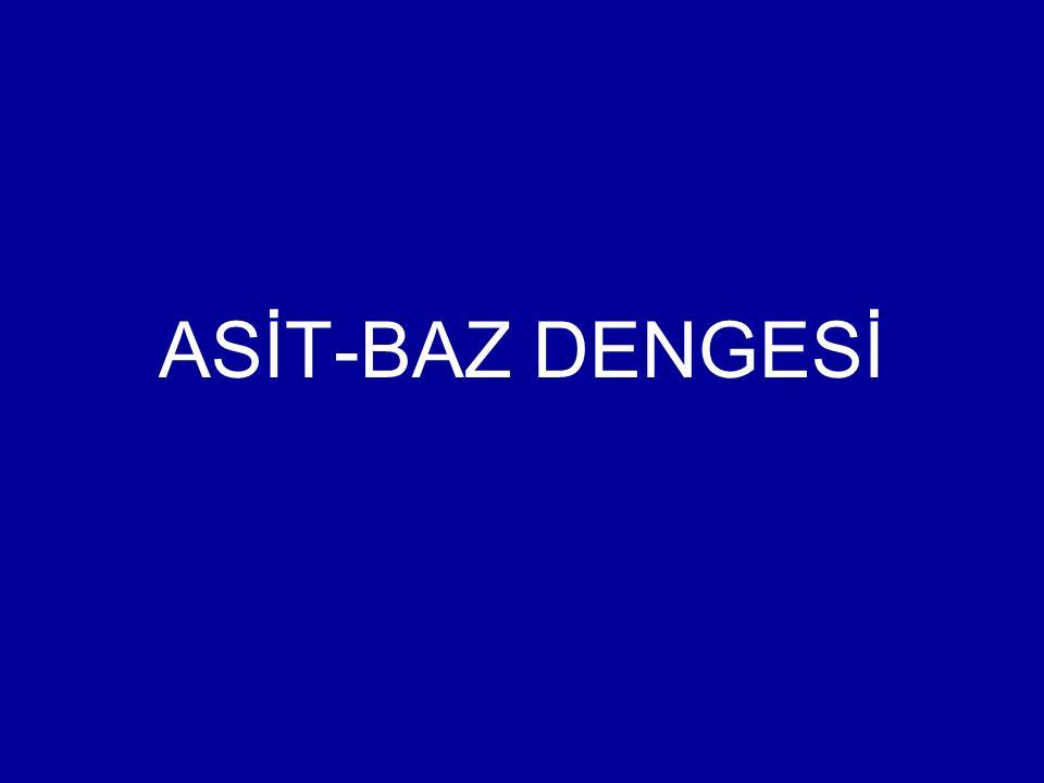 ASİT-BAZ DENGESİ