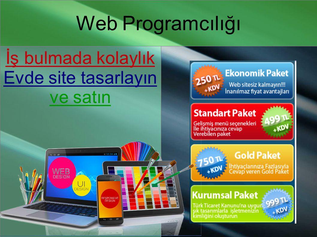 Web Programcılığı İş bulmada kolaylık Evde site tasarlayın ve satın