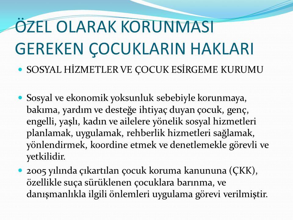 ÇALIŞAN ÇOCUKLARIN HAKLARI Türkiye'de 12.yy'ın ilk yarısından 20.yy'ın başlarına kadar mevcut olan ahilik kurumu esnaf ve sanatkar kuruluşlarının eleman yetiştirme işleyiş ve denetimlerini yönlendirmiştir.