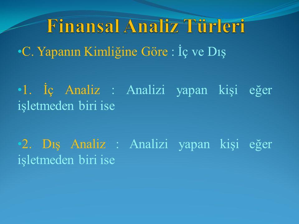 FİNANSAL YAPI (BORÇ) ORANLARI İşletmenin kaynak yapısına finansal yapı da denir.