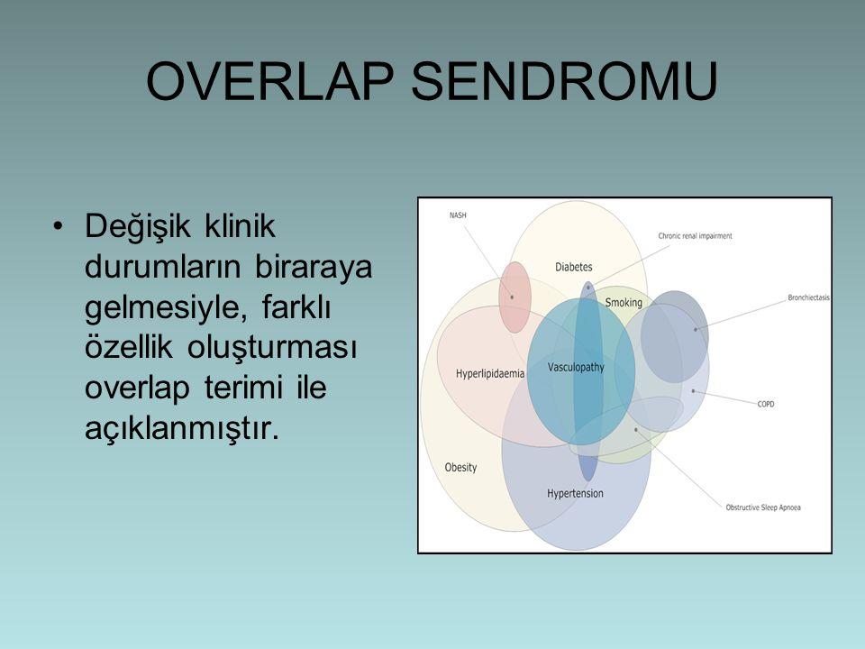 OVERLAP SENDROMU Değişik klinik durumların biraraya gelmesiyle, farklı özellik oluşturması overlap terimi ile açıklanmıştır.