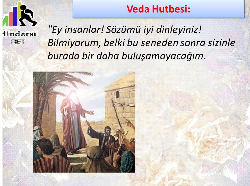 Veda Hutbesi: