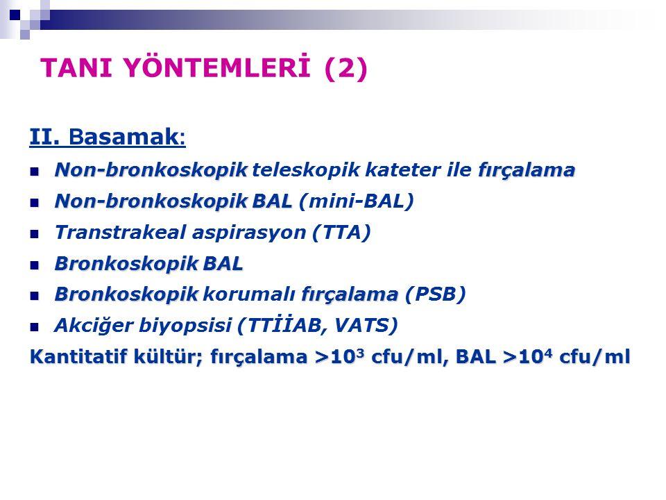 TANI YÖNTEMLERİ (2) II.
