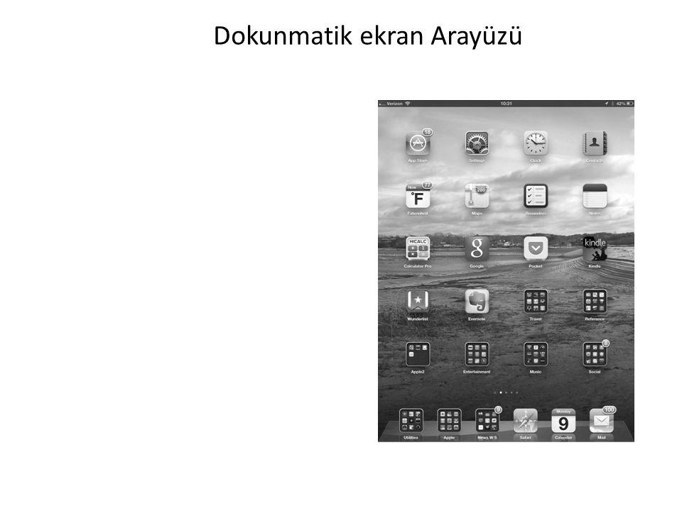Dokunmatik ekran Arayüzü