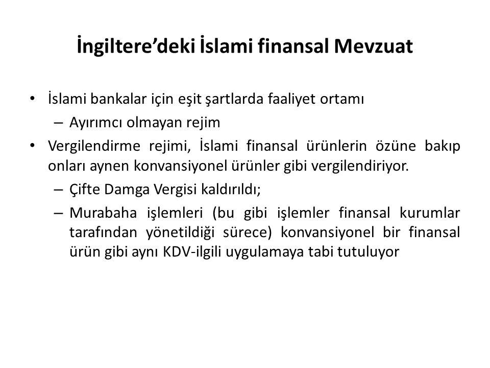 İngiltere'deki İslami finansal Mevzuat İslami bankalar için eşit şartlarda faaliyet ortamı – Ayırımcı olmayan rejim Vergilendirme rejimi, İslami finan