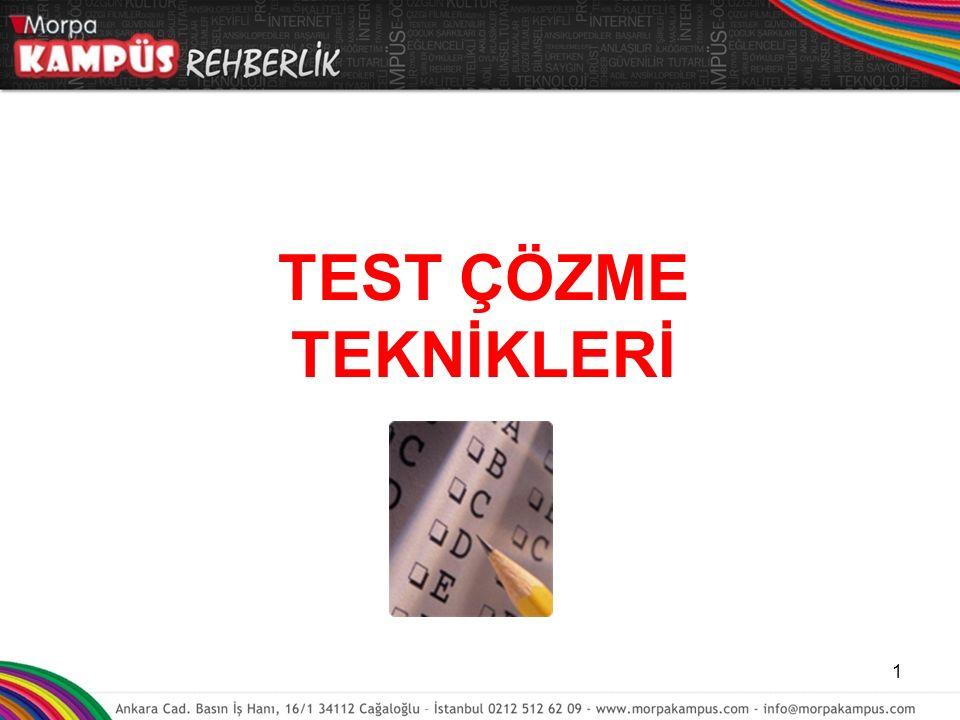 TEST ÇÖZME TEKNİKLERİ 1