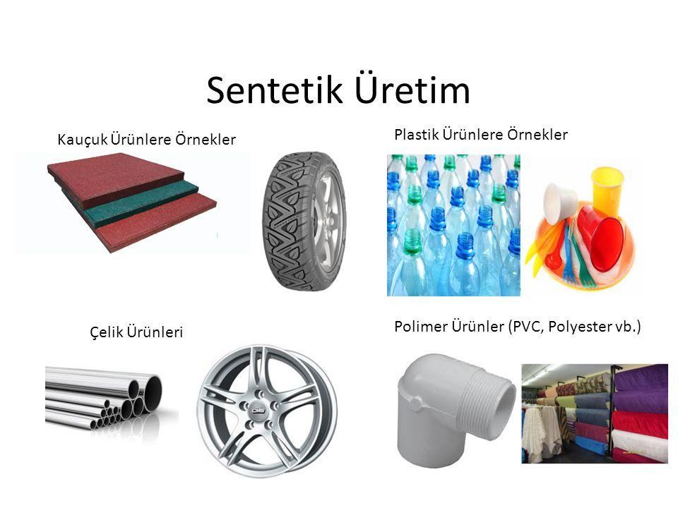 Sentetik Üretim Kauçuk Ürünlere Örnekler Plastik Ürünlere Örnekler Çelik Ürünleri Polimer Ürünler (PVC, Polyester vb.)