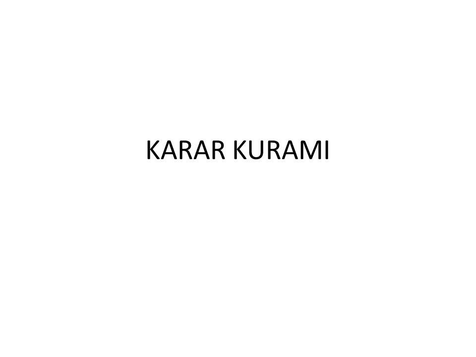 KARAR KURAMI