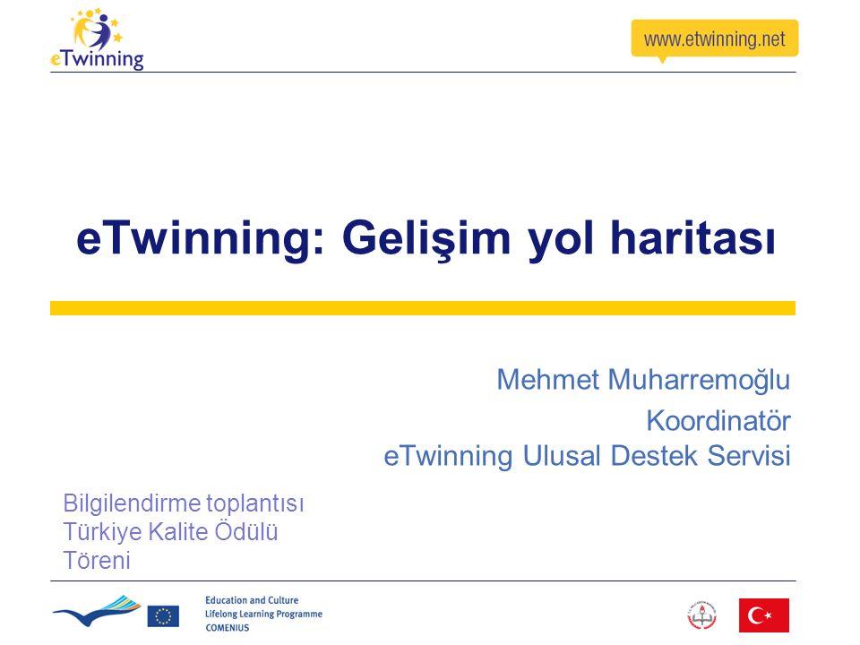 eTwinning: Gelişim yol haritası Mehmet Muharremoğlu Koordinatör eTwinning Ulusal Destek Servisi Bilgilendirme toplantısı Türkiye Kalite Ödülü Töreni