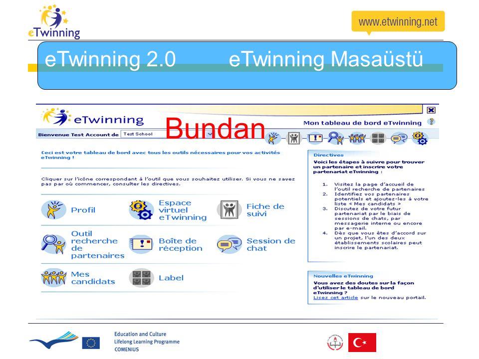 eTwinning 2.0 eTwinning Masaüstü Bundan