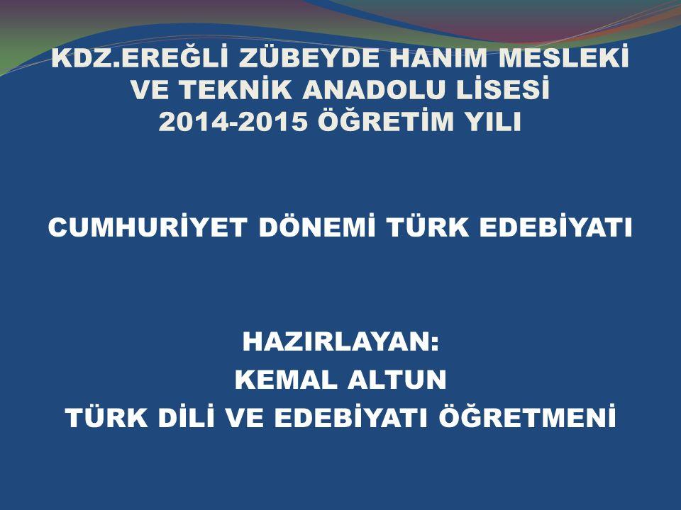 İKİNCİ YENİCİLER  Cemal Süreya, İlhan Berk, Edip Cansever, Ece Ayhan, Turgut Uyar, Sezai Karakoç...