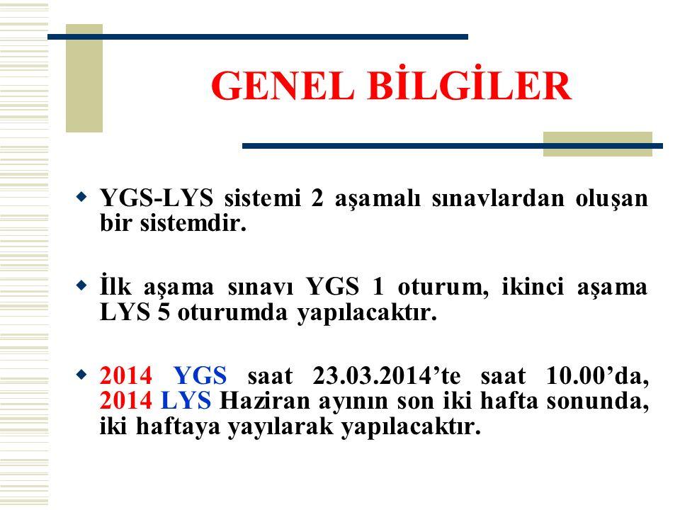 SINAVSIZ GEÇİŞ  Sınavsız geçiş 2014 yılında uygulanacaktır.