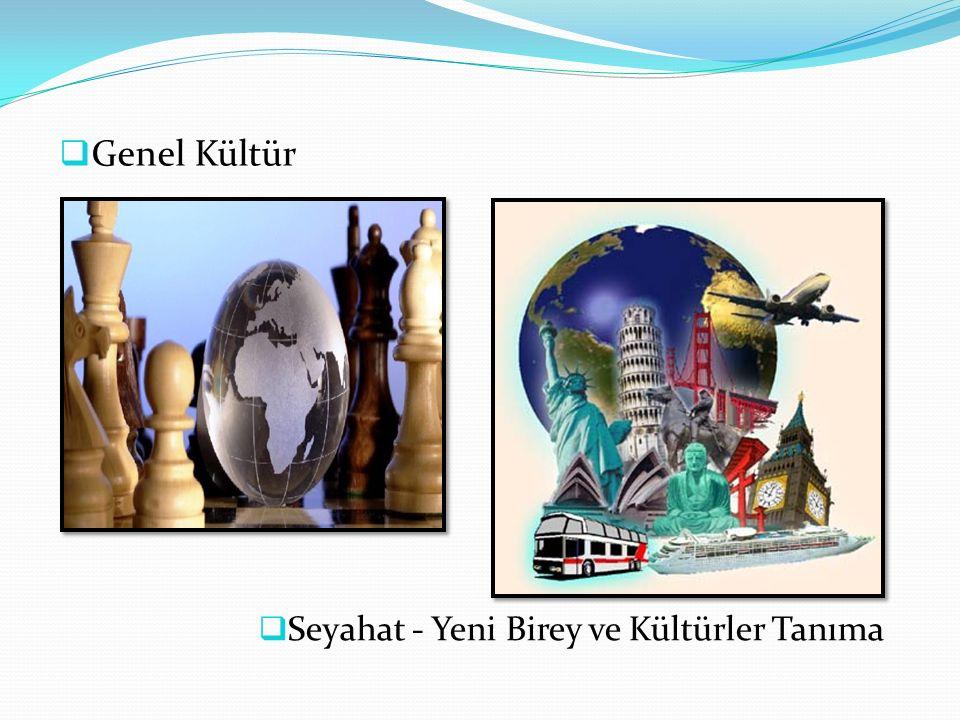  Genel Kültür  Seyahat - Yeni Birey ve Kültürler Tanıma