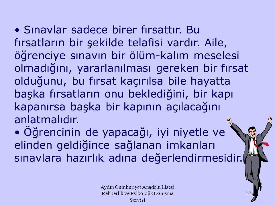 """Aydın Cumhuriyet Anadolu Lisesi Rehberlik ve Psikolojik Danışma Servisi """"Sen bizim evladımızsın. Seni seviyoruz ve hep seveceğiz."""" şeklinde açıklamala"""