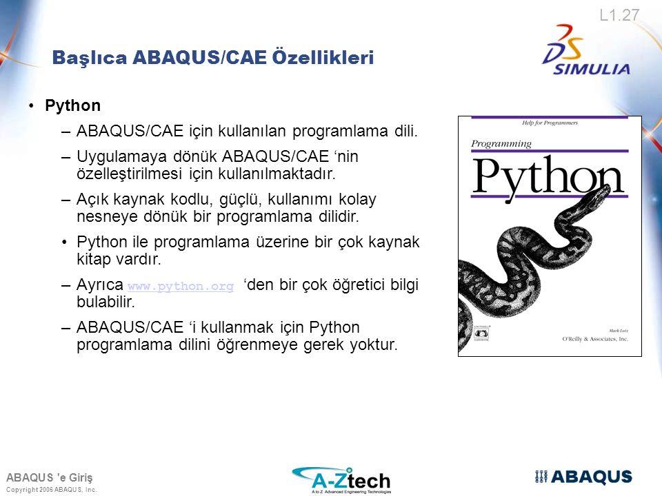 Copyright 2006 ABAQUS, Inc.