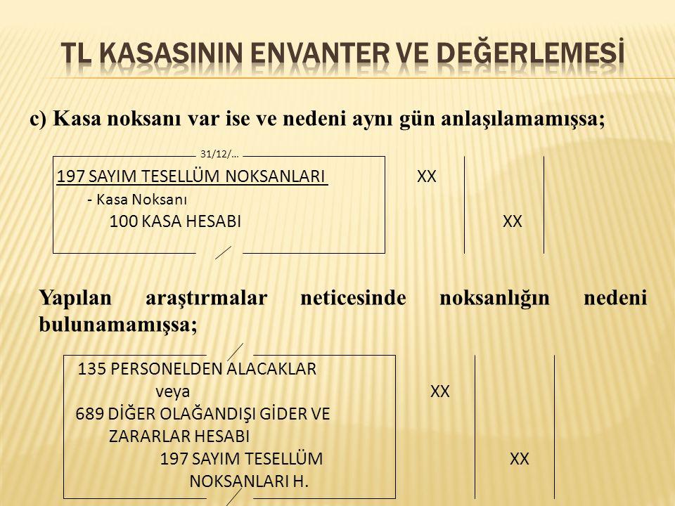Örnek 1: 31.12.2009 tarihinde genel geçici mizanda Kasa Hesabı nın borç toplamı 18.000 TL, alacak toplamı 12.000 TL'dir.